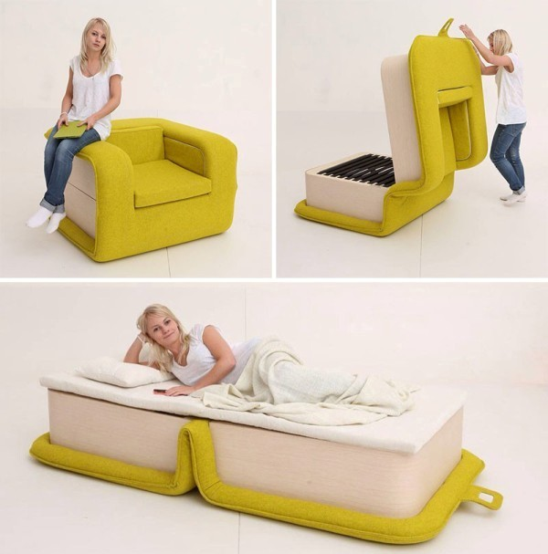 chair-bed 83 Creative & Smart Space-Saving Furniture Design Ideas in 2017