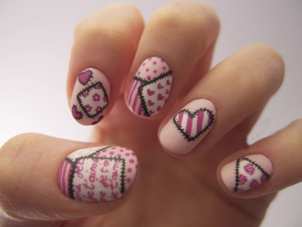 Valentines-Day-Nails-2017-103 50+ Lovely Valentine's Day Nail Art Ideas 2017