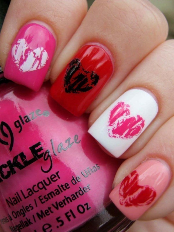 Valentines-Day-Nails-2017-12 50+ Lovely Valentine's Day Nail Art Ideas 2017