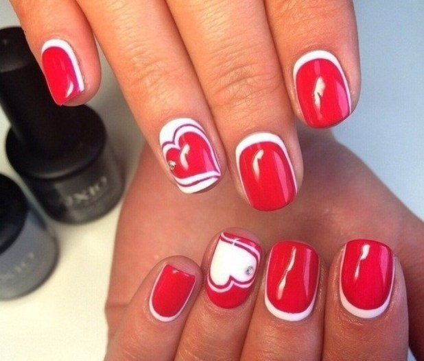 Valentines-Day-Nails-2017-121 50+ Lovely Valentine's Day Nail Art Ideas 2017