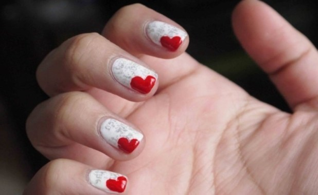 Valentines-Day-Nails-2017-122 50+ Lovely Valentine's Day Nail Art Ideas 2017