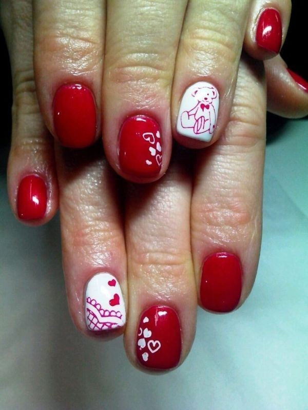 Valentines-Day-Nails-2017-13 50+ Lovely Valentine's Day Nail Art Ideas 2017