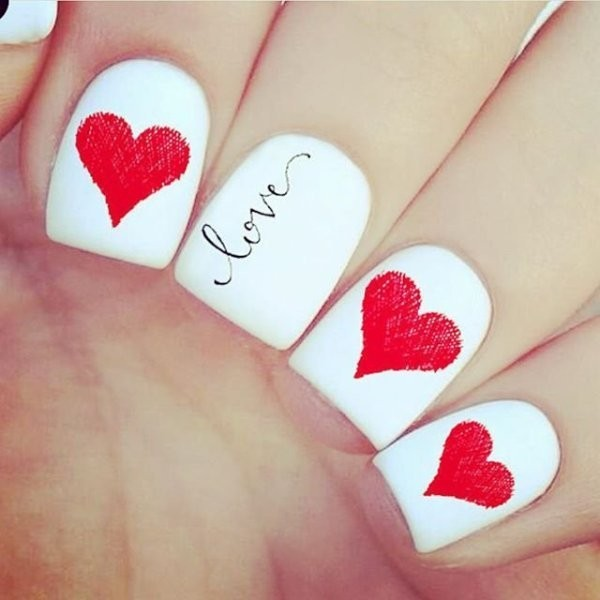 Valentines-Day-Nails-2017-81 50+ Lovely Valentine's Day Nail Art Ideas 2017