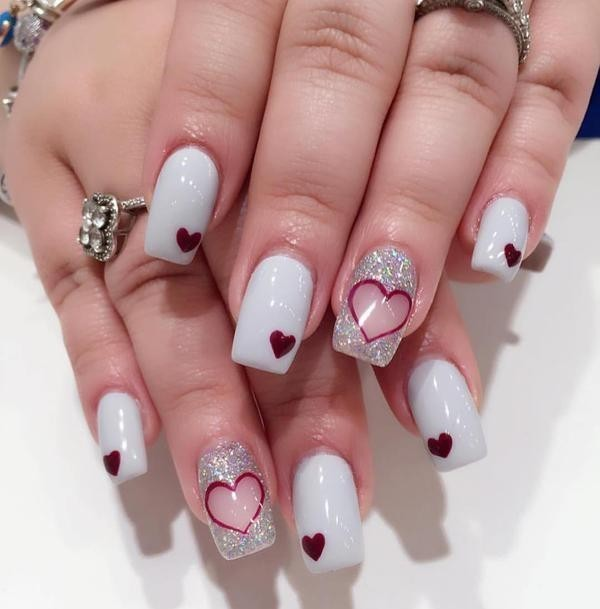 Valentines-Day-Nails-2017-83 50+ Lovely Valentine's Day Nail Art Ideas 2017
