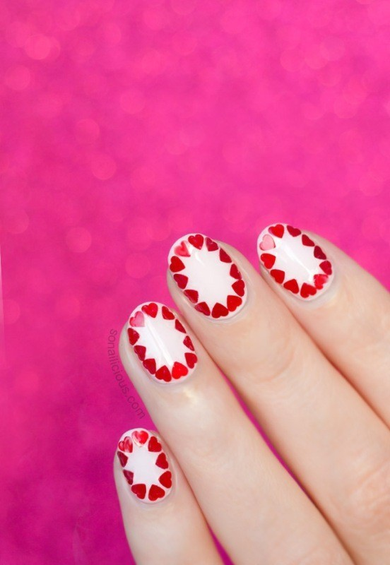 Valentines-Day-Nails-2017-9 50+ Lovely Valentine's Day Nail Art Ideas 2017