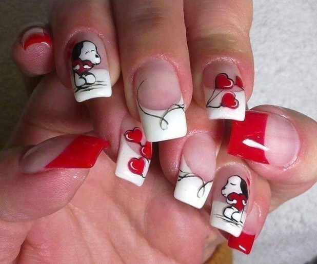 Valentines-Day-Nails-2017-98 50+ Lovely Valentine's Day Nail Art Ideas 2017