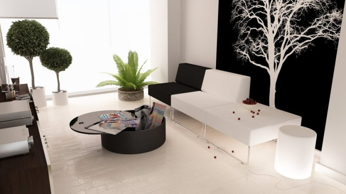 black-white-living-green-accents 5 Outdated Home Decor Trends That Are Coming Again in 2018