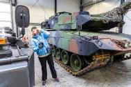 Woman in tank museum :)