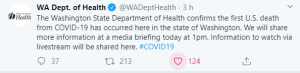 (VIDEO) Trump confirmed the first coronavirus death in the USA