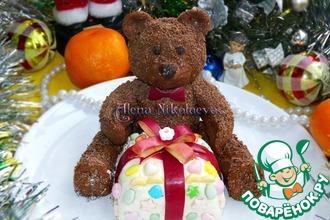पकाने की विधि: एक आश्चर्यजनक उपहार के साथ चॉकलेट भालू