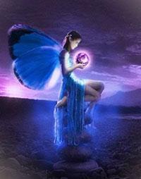 povestea Fluturele albastru