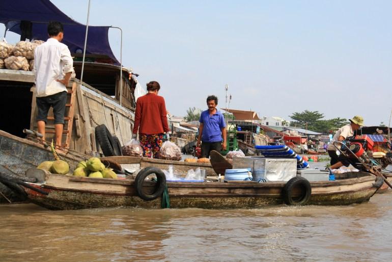 Plávajúce trhy Cai Rang, Mekong