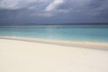 Pláž bola krásna za každého počasia.
