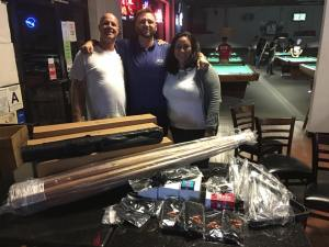 POV Pool Media: Daniel and Geraldine meet with Steve Strange at Shooter's Billiards in Riverside to deliver equipment from West State Billiards.