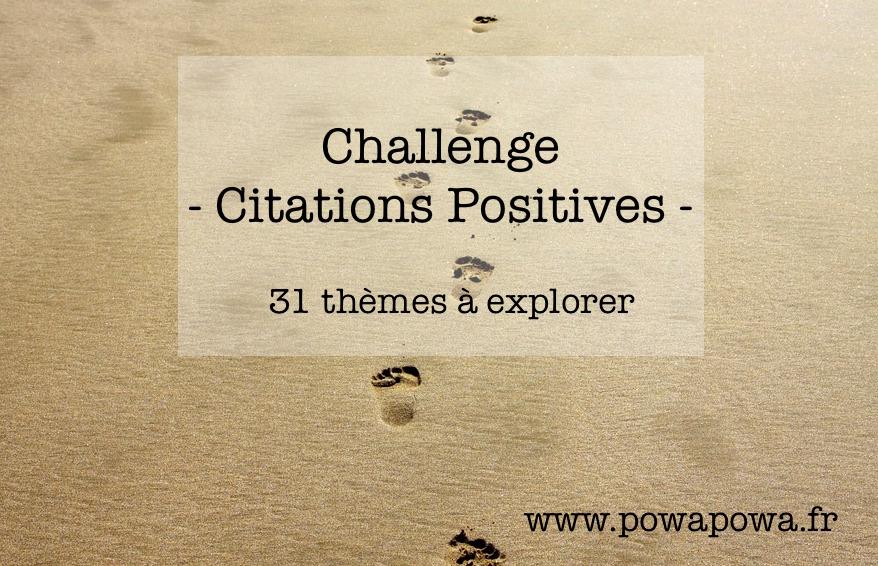 Positivons Ensemble Avec Le Challenge Citations Positives