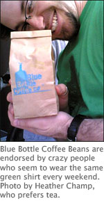 blue bottle makes me crazy with joy