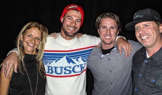 Sherry McConkey, Ben Bryan and Charlie Rosene from Red Bull, and Steve Winter from MSP. PHOTO: Van Swae