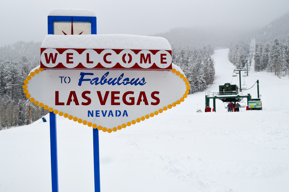 Viva le ski in Las Vegas at Lee Canyon Ski Resort. PHOTO: Courtesy of Lee Canyon