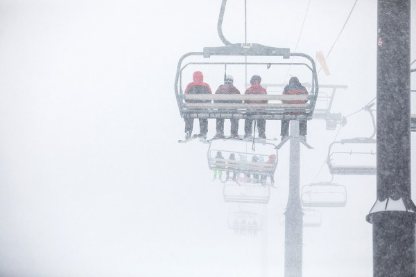 Rding into the storm at Squaw. PHOTO: Ryan Salm