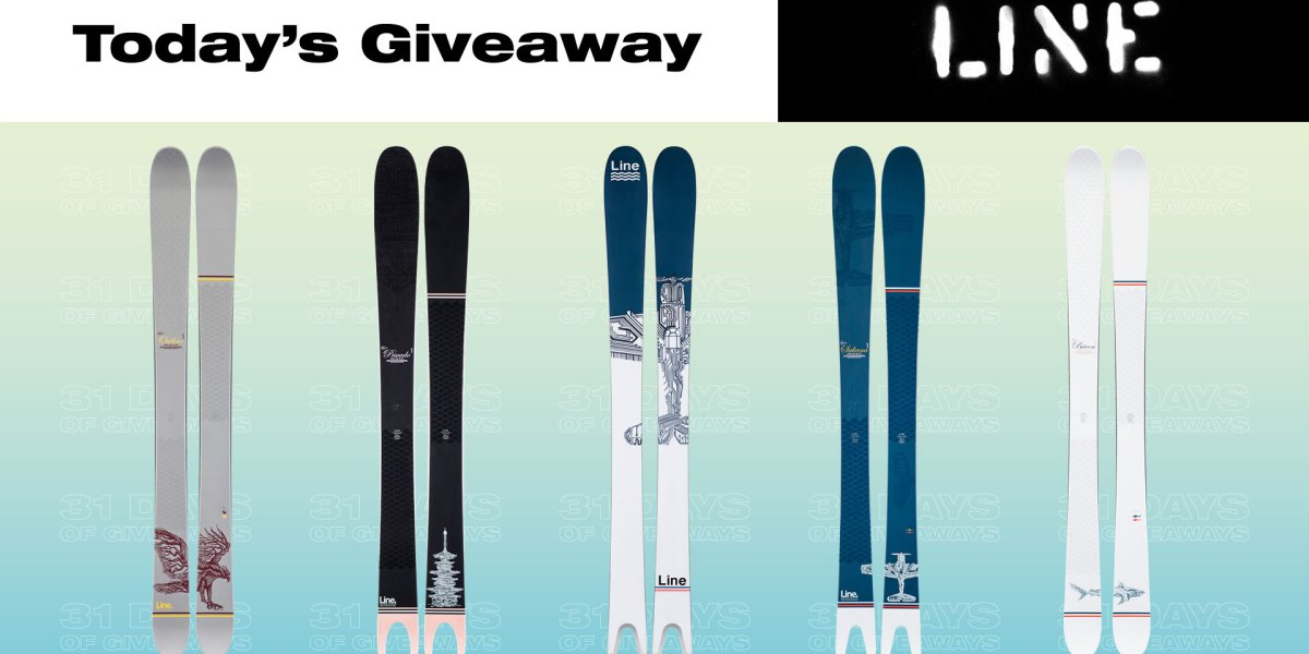 31 Days of Giveaways—Line Skis