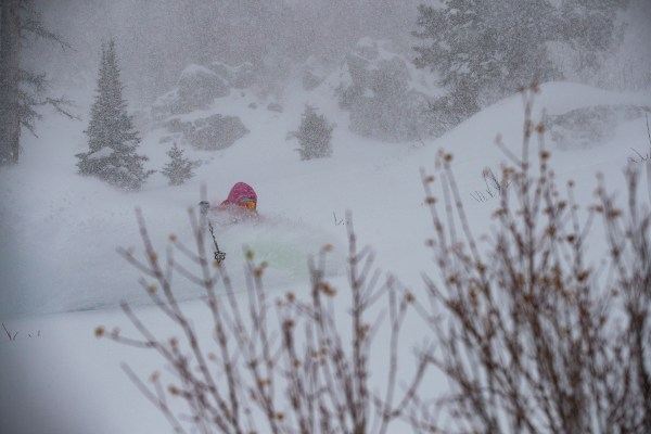 Lynsey Dyer skiing in the Jackson Backcountry, WY.