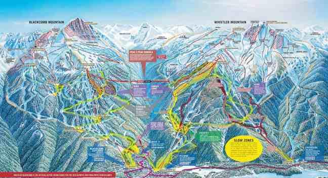 Trail Map Whistler Blackcomb
