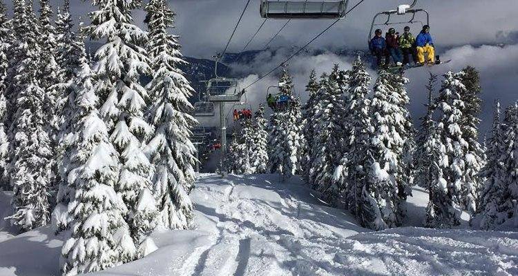 View of Whistler Blackcomb Ski-Lift