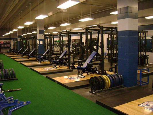 Drake University Weight Room Installation Power Lift