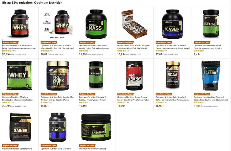 Optimum Nutrition Supplement Amazon Black Friday