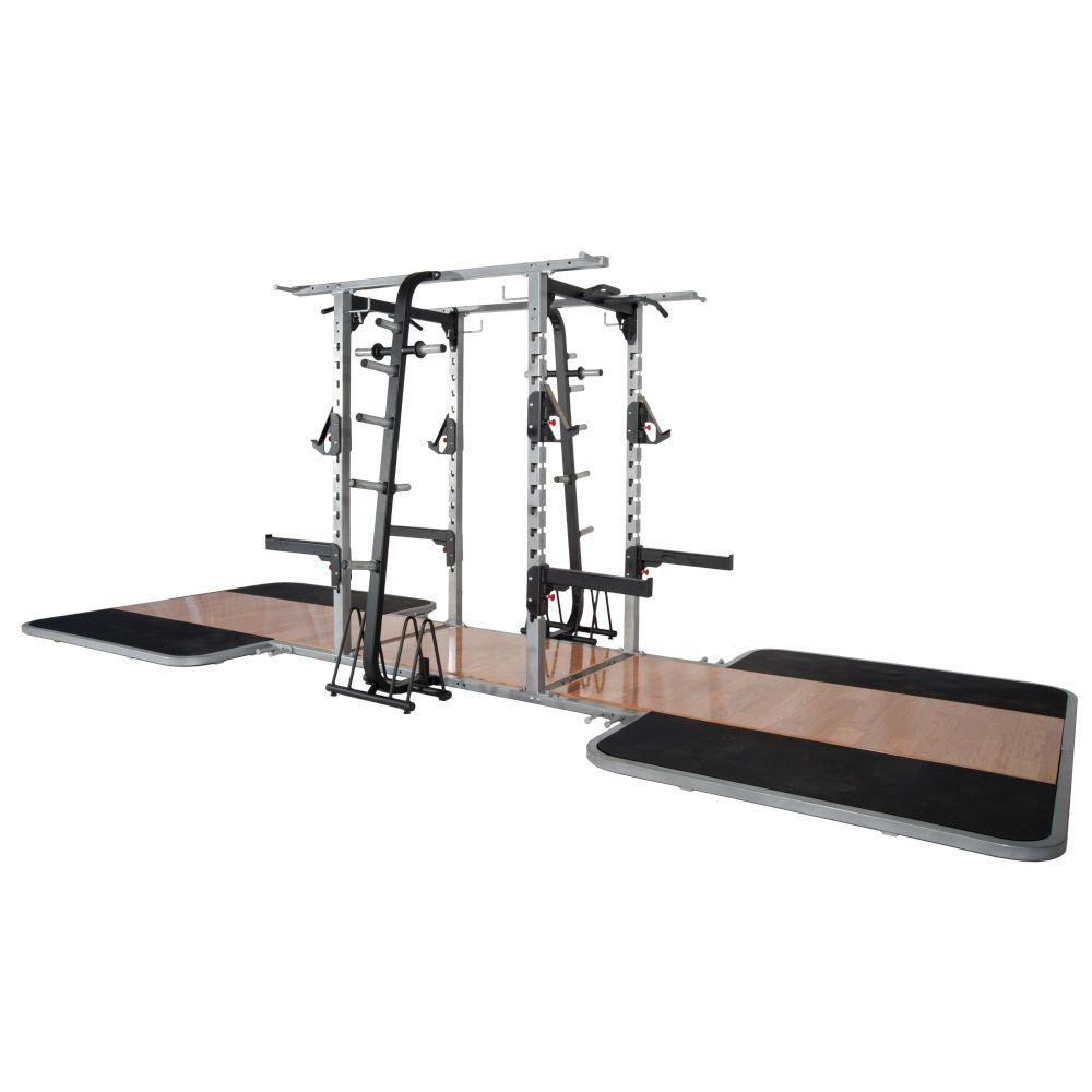 pro maxima pl 300 pro double sided half rack w 2 oak platforms power systems