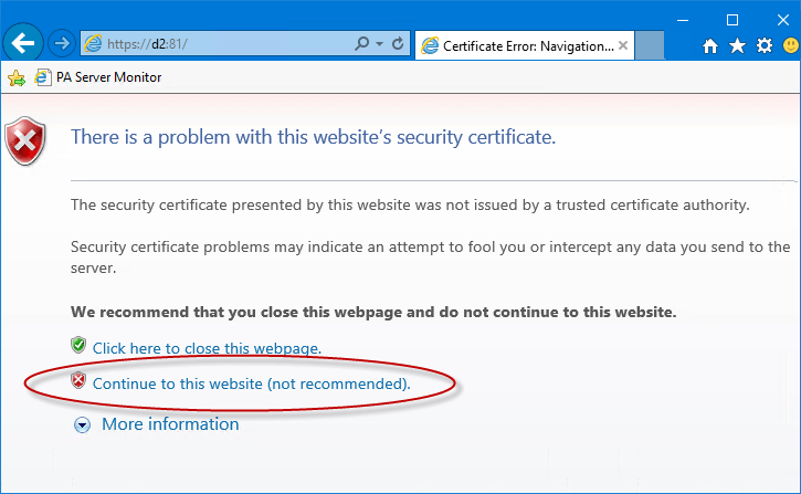 Installing Self Signed Certs In Ie