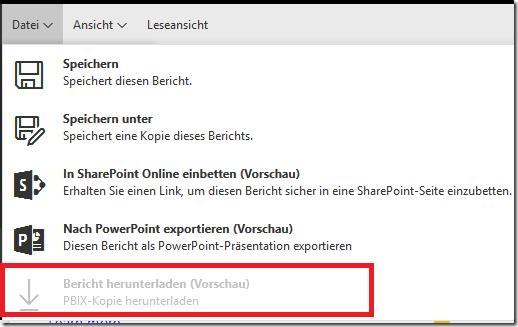 Download PBIX nicht möglich