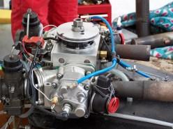 Motor aus einem Rennboot