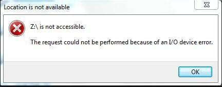 I/O device error-1