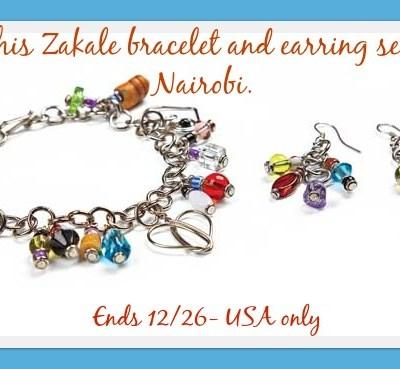 Zakale Bracelet & Earring Set Giveaway ends 12/26 {$100 arv}