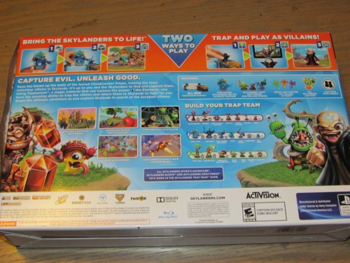 skylanders trap team back of box
