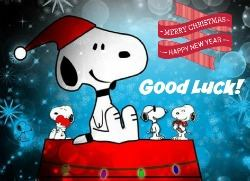 snoopy xmas good luck