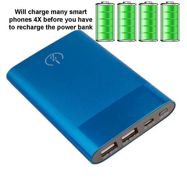 power bank blue