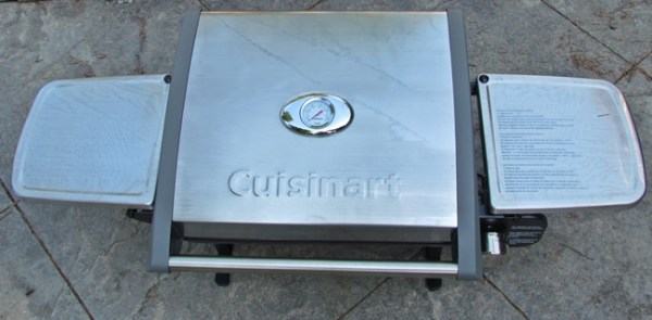 cuisinart grill closed