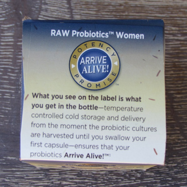RAW probiotics women arrive live