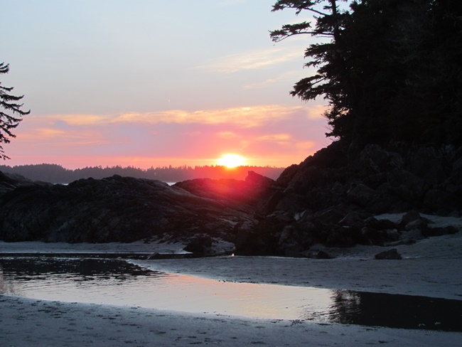 crystal cove stunning sunset