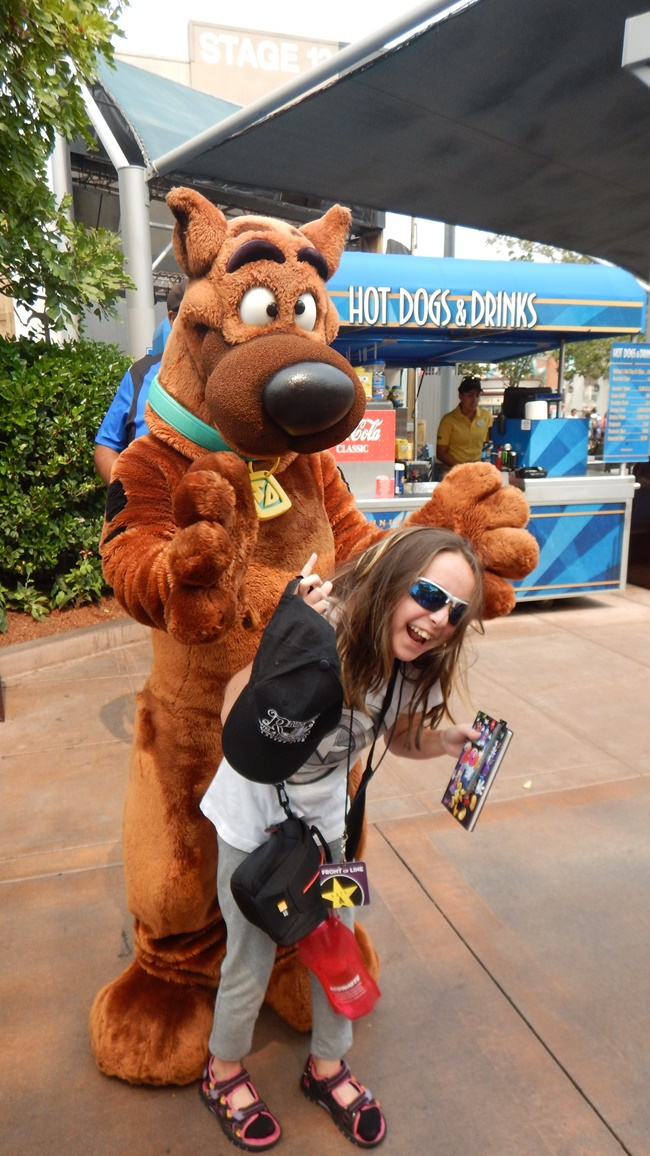 Universal Scooby and my daughter