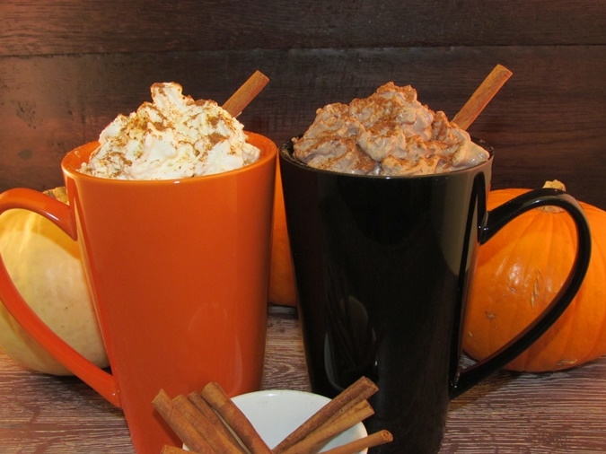 pumpkin spice mocha with chocolate whip