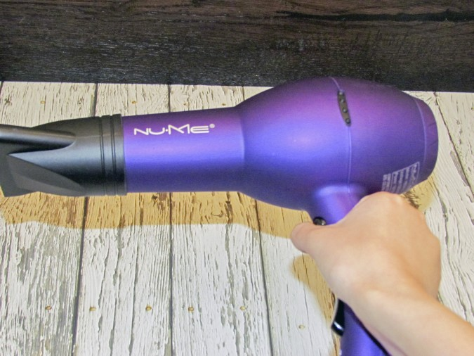 NuMe hair dryer holding