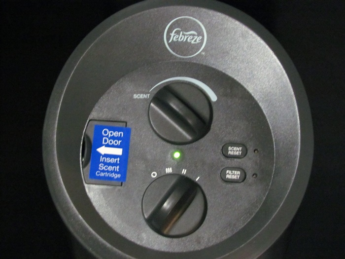 febreze air purifier tower top view