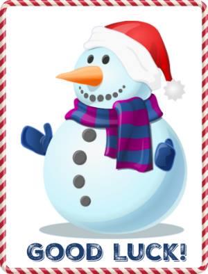 good luck snowman