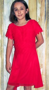 limeapple red dress