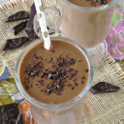 Dark Chocolate Peanut Butter Banana Smoothie Recipe