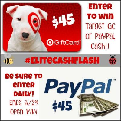 $45 Target GC or PayPal Cash Giveaway