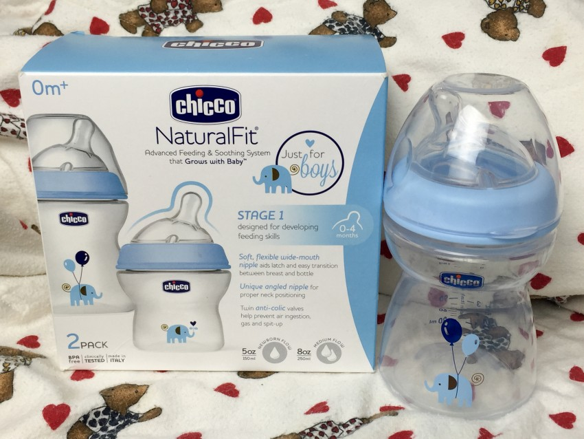 Chicco NaturalFit baby bottle for boys